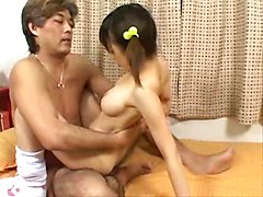 Miku Tsukioka blows and has a good fuck
