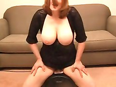 Busty Wife Riding A Sybian