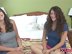 Amateur girls spanking each other for money