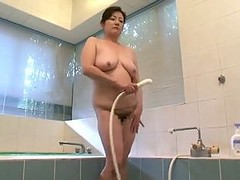 My Asian Auntie Masturbate In The Shower
