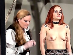 redhead play piercing slave marys lesbian bdsm and needle