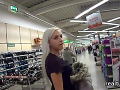 breathtaking czech cutie is tempted in the shopping centre and nailed in pov