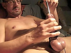 jerk off,  flashlight and electro cum shot