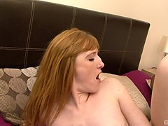 experienced redhead and her very first interracial adventure