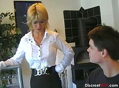 German Mom Teaches Young Boy