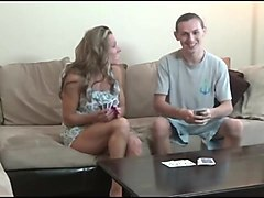 mom and son play strip poker