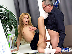 Sonia Sweet in Sonia Sweet gets some after school attention by her dirty old teacher - TrickyOldTeacher