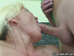 Two Students Decided To Fuck Their Old Teacher