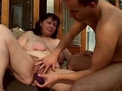 Fat Mature Pumped In Her Hairy Cunt By Troc