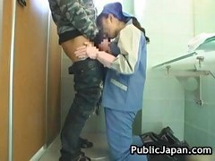 Asian Toilet Attendant Cleans Wrong Part4